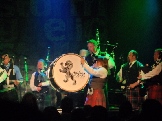Drummer in the Chicago Pipe Band - Opening for Gaelic Storm at the House of Blues, Chicago, IL