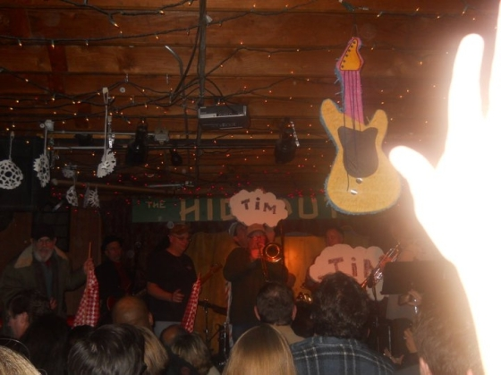 """The """"Parade of the Tims"""" at the St. Tim's Day Party at The Hideout"""
