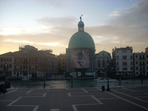 View from the train station, 6AM Venice, Italy