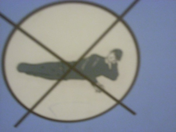Sleeping is forbidden in the Pantheon, Rome, Italy