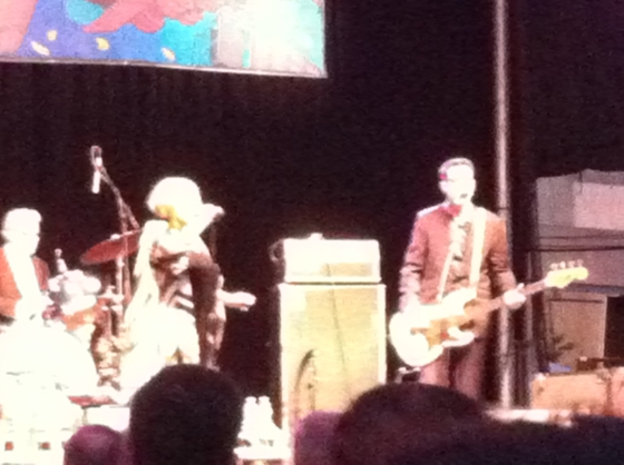 See - my phone camera really sucks at night - but that's Mavis Staples!