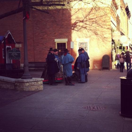 Civil War reenactors - raising money for the Salvation Army