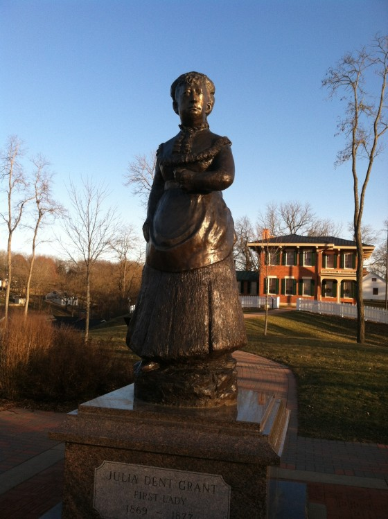 Mrs. Julia Dent Grant (who sounds like she was awesome) One of 3 statues of first ladies in the country according to a plaque)
