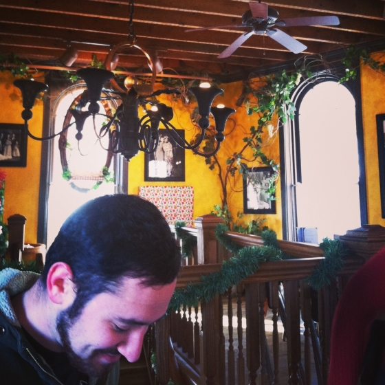 "Galena's ""little Italy"" - Vinny Vanucci's - and Adam laughing at me for taking so many pictures"
