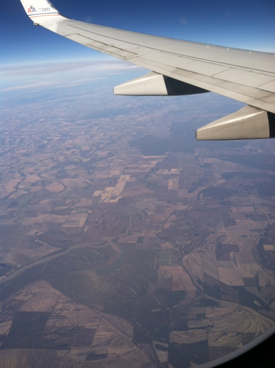 This was the view near take off from Austin