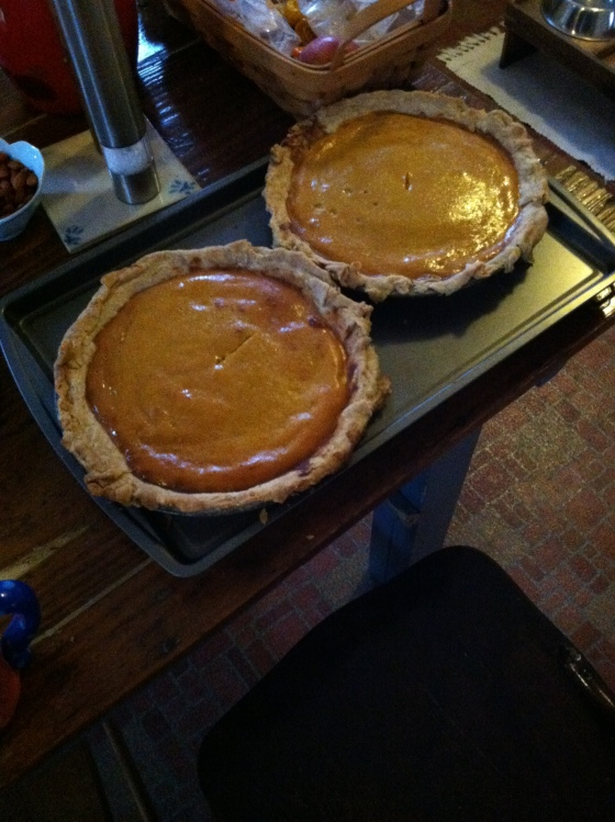 My dad's pumpkin pies