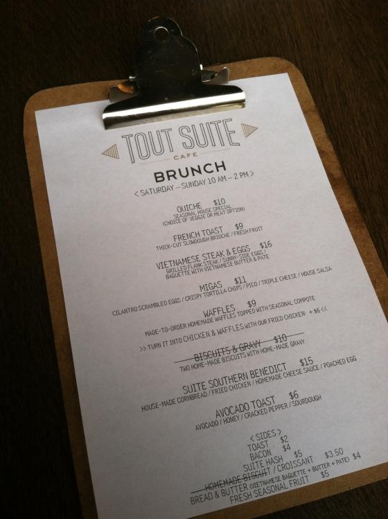 Great brunch at Tout Suite