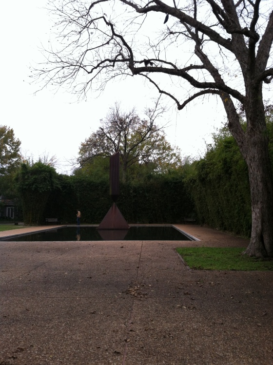 Outside the Menil (which is a really cool little museum)