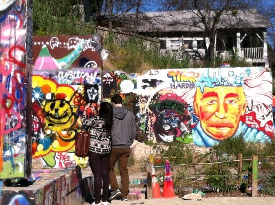 Stalker shot at the Austin Graffiti Gallery