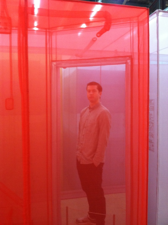 G taking in the Do Ho Suh installation at The Contemporary
