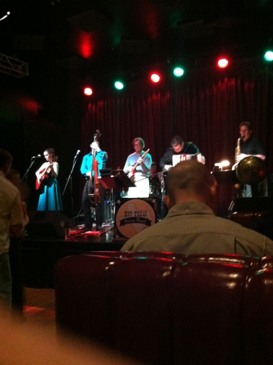 The Hot Texas Swing Band at the Highball on their last night in town