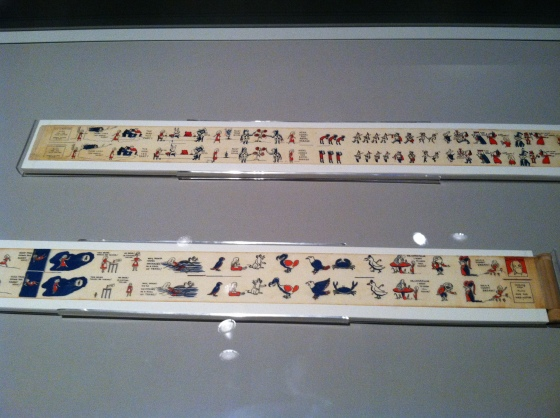 A rare paper film strip (there's a cool video clip in the exhibit giving the background on this piece)