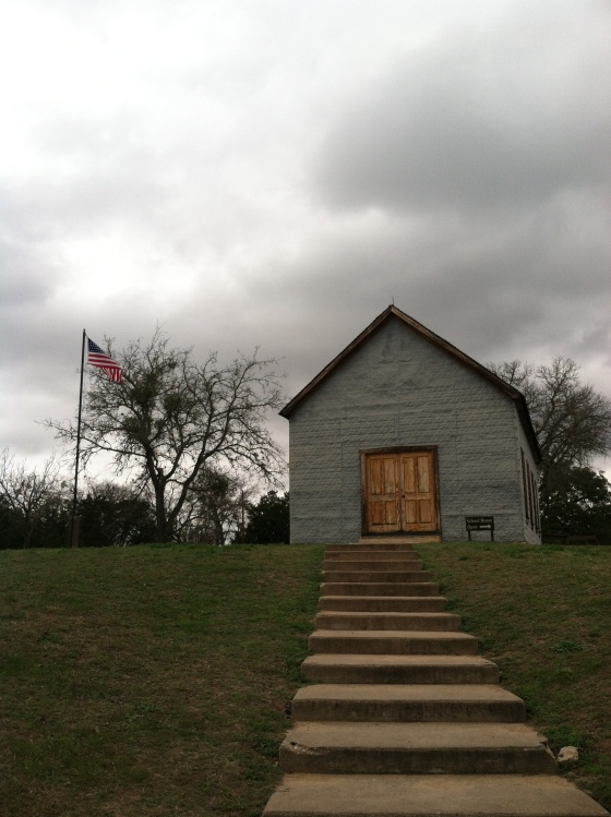 The one room school house he went to when he was 4