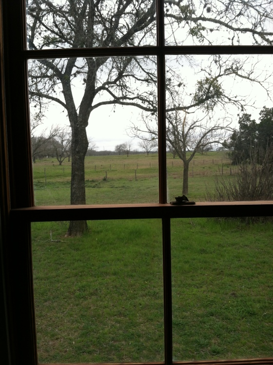 View from the schoolhouse