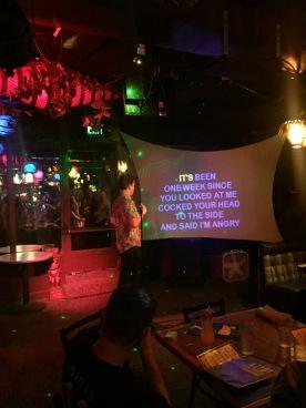 Post-rehearsal karaoke night